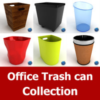 Office Trash Can Collection